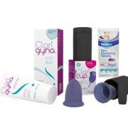 Combo Cốc nguyệt san Claricup™, dung dịch vệ sinh Clarigyna và Viên tiệt trùng Milton mini hộp 50 viên